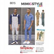 8615 Simplicity Pattern: Men's Vintage Jumpsuit and Overalls